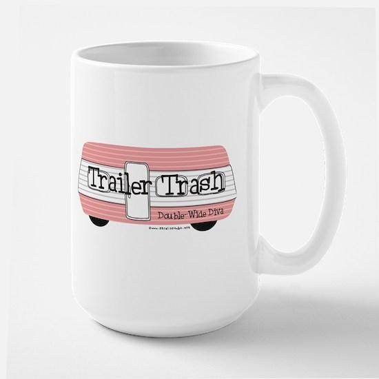 Double Wide Diva - Trailer Large Mug