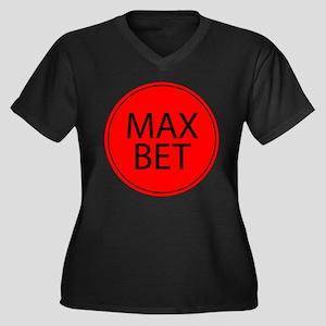 Max Bet Women's Plus Size V-Neck Dark T-Shirt