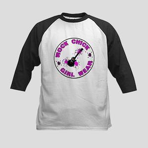 ROCK CHICK: Girl Wear Kids Baseball Jersey