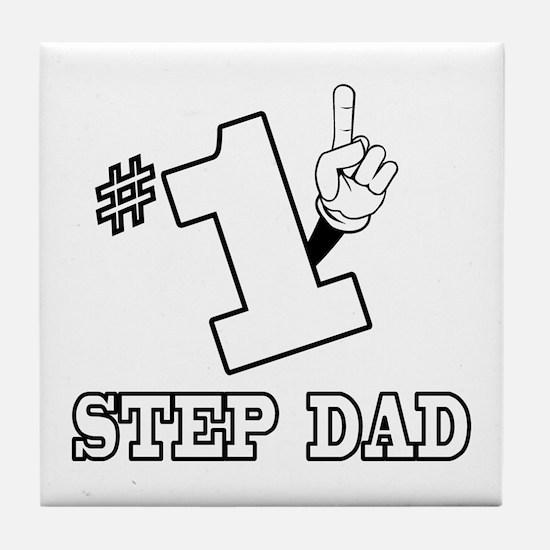#1 - STEP DAD Tile Coaster