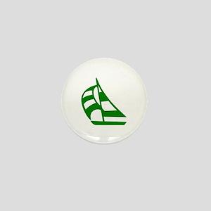 Green Sailboat Mini Button