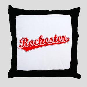 Retro Rochester (Red) Throw Pillow