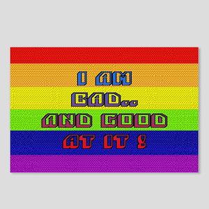 I AM BAD..& GOOD AT IT/RAINBO Postcards (Packa