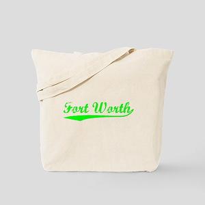 Vintage Fort Worth (Green) Tote Bag