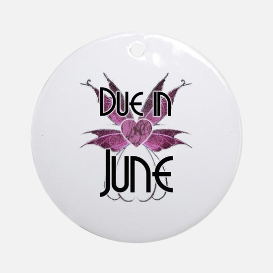 Due In June Fairy Wings Ornament (Round)