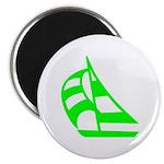 Green Sailboat Magnet