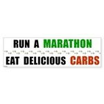 Run a Marathon Eat Carbs Bumper Sticker (10 pk)
