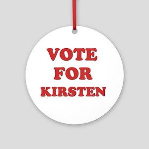 Vote for KIRSTEN Ornament (Round)
