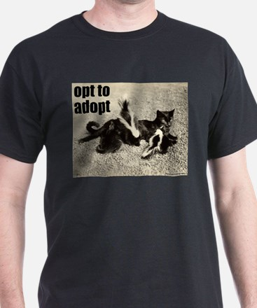 Opt To Adopt Cat T-Shirt