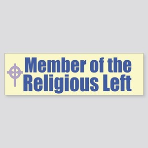 Religious Left Celtic Cross Bumper Sticker