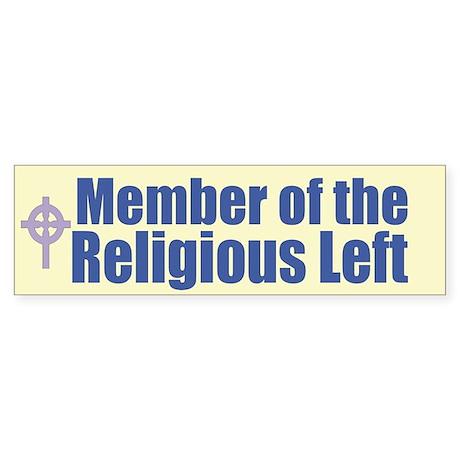 Religious Left Celtic Cross Bumper Sticker