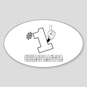 #1 - CHIROPRACTOR Oval Sticker