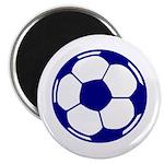 Blue Soccer Ball Magnet