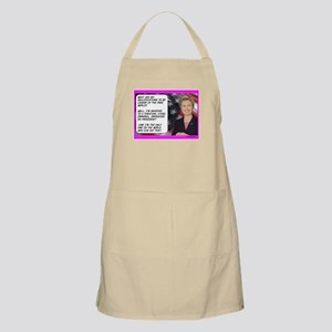 """Hillary's qualifications"" BBQ Apron"
