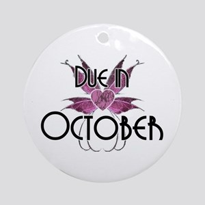 Due In October Fairy Wings Ornament (Round)