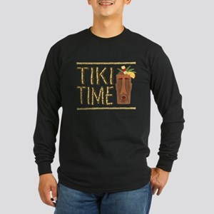Tiki Time - Long Sleeve Dark T-Shirt