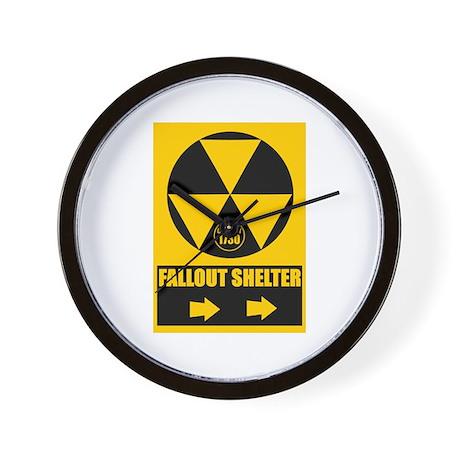 Fallout Shelter Sign Wall Clock