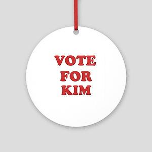 Vote for KIM Ornament (Round)