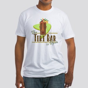 The Tiki Bar is Open - Fitted T-Shirt