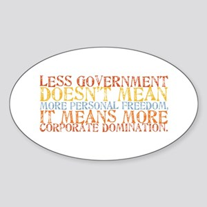 Less Government Oval Sticker