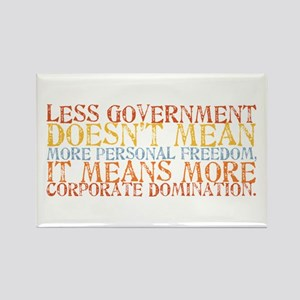 Less Government Rectangle Magnet