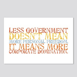 Less Government Postcards (Package of 8)