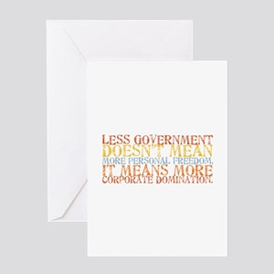 Less Government Greeting Card