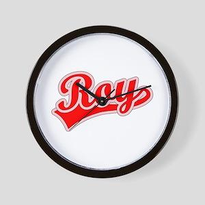 Retro Roy (Red) Wall Clock
