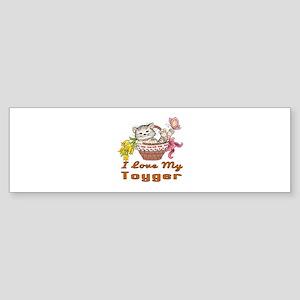 I Love My Toyger Designs Sticker (Bumper)