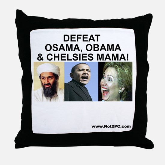 osama-obama-mama Throw Pillow