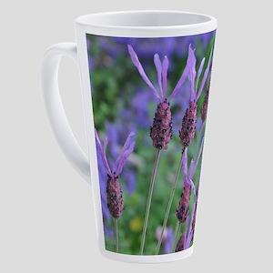 Purple lavender flowers 17 oz Latte Mug
