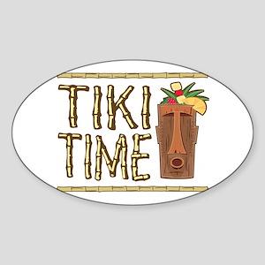 Tiki Time - Oval Sticker