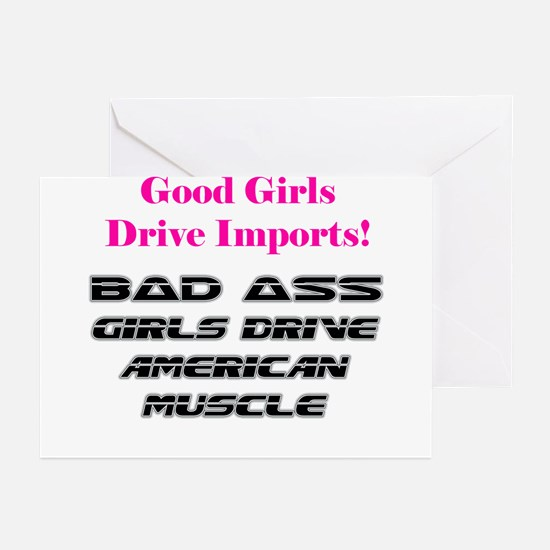 Bad Ass Girls Greeting Cards (Pk of 10)