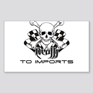 Death To Imports Rectangle Sticker