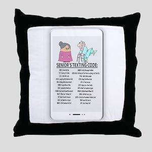 senior texting code humor Throw Pillow