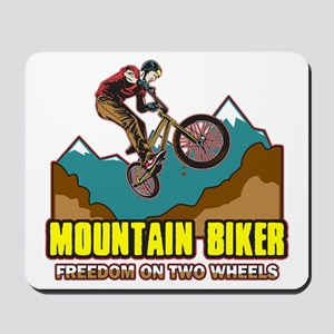 Mountain Biker Freedom Mousepad