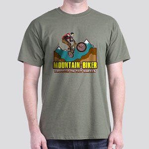 Mountain Biker Freedom Dark T-Shirt