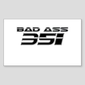 Bad Ass 351 Rectangle Sticker