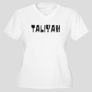 Taliyah Faded (Black) Women's Plus Size V-Neck T-S