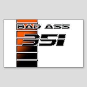 Bad Ass 351 w/ Stripes Rectangle Sticker