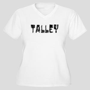 Talley Faded (Black) Women's Plus Size V-Neck T-Sh