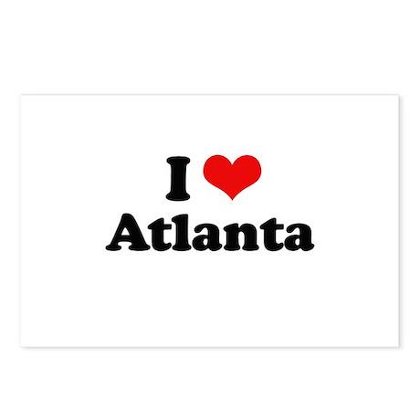 I love Atlanta Postcards (Package of 8)