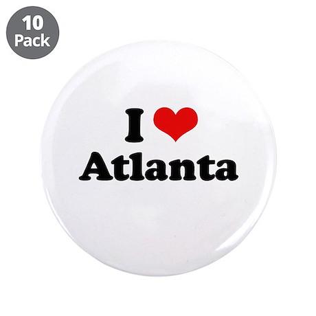 "I love Atlanta 3.5"" Button (10 pack)"