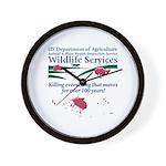 Abolish Wildlife Services Wall Clock