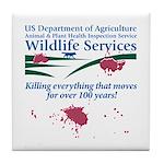 Abolish Wildlife Services Tile Coaster