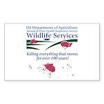 Abolish Wildlife Services Rectangle Sticker