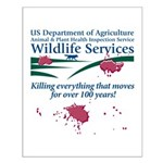Abolish Wildlife Services Small Poster