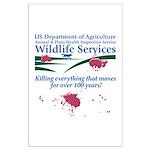Abolish Wildlife Services Large Poster