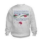Abolish Wildlife Services Kids Sweatshirt