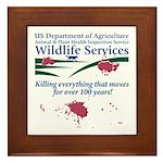 Abolish Wildlife Services Framed Tile
